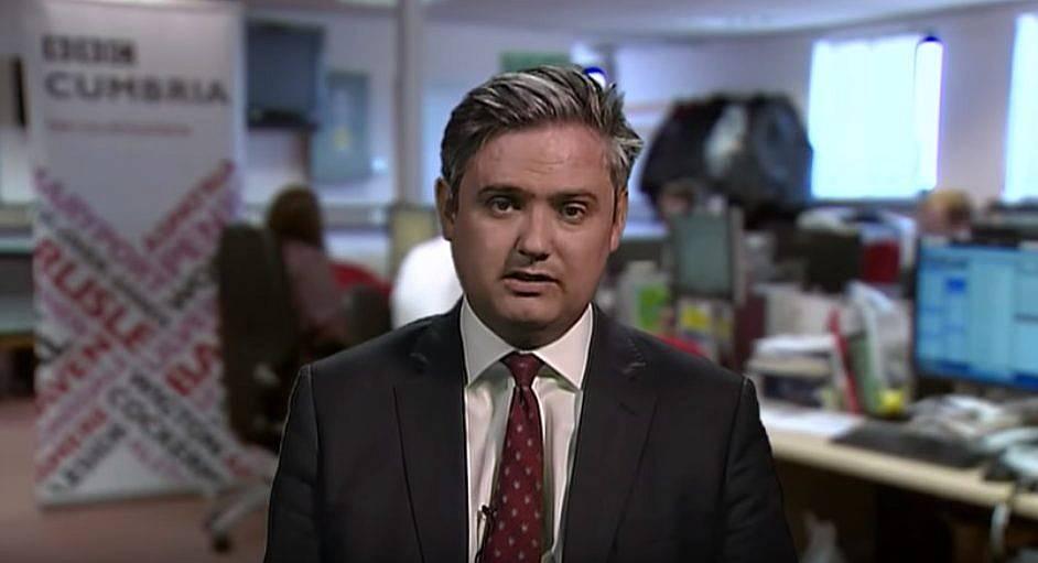 El ex legislador laborista John Woodcock hablando en una entrevista televisiva el 2 de mayo de 2017. (captura de pantalla: YouTube)