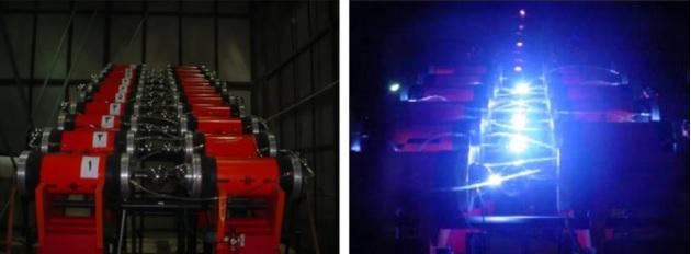 Un par de fotos publicadas previamente a organizaciones de noticias muestran equipos de rayos X adquiridos por Irán. Los dispositivos se usan para desarrollar el núcleo de una bomba nuclear, pero también tienen aplicaciones que no son de armas. (Gobierno de Israel)