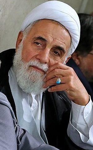 Ali Akbar Nategh Nouri, clérigo principal y miembro del Consejo de Conveniencia de Irán, el 16 de junio de 2017. (CC-BY-4.0 farsi.khamenei.ir/Wikipedia)