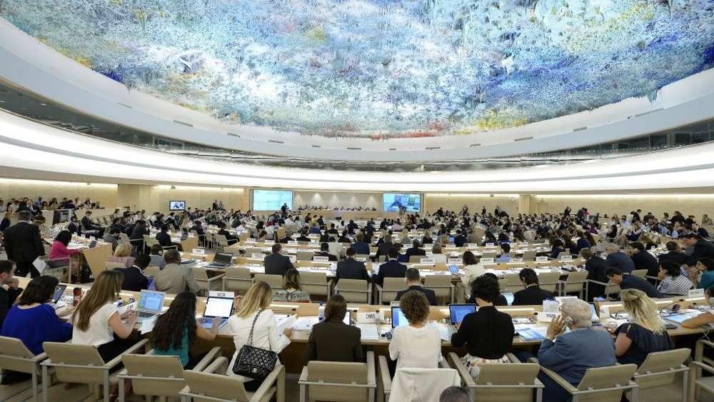 Ilustrativo: El Consejo de Derechos Humanos de la ONU durante un diálogo interactivo con la Comisión Independiente de Investigación sobre la guerra Israel-Hamas 2014 en la Franja de Gaza el 29 de junio de 2015 en Ginebra, Suiza.(Foto de la ONU)