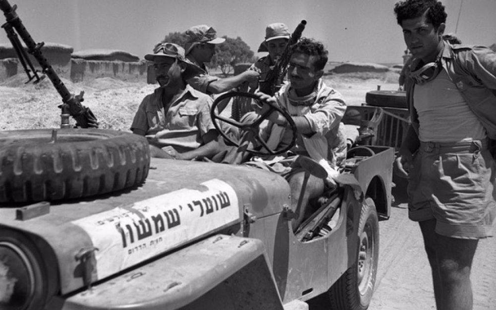 Miembros de la unidad de comando zorros de Samson durante la Guerra de la Independencia de Israel de 1948. (Efraim Ilani)