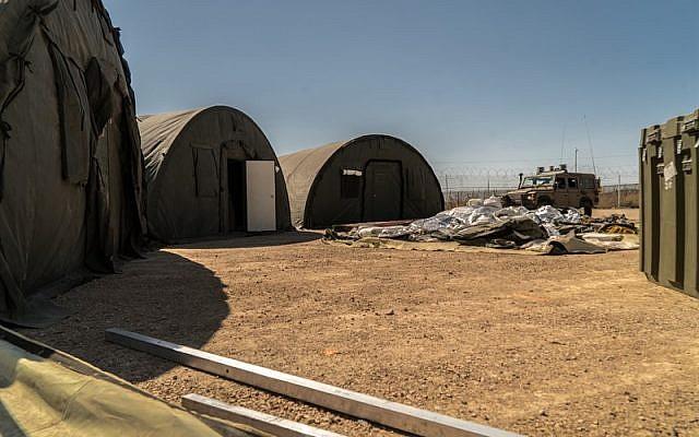 La clínica de campo Mazor Ladach en los Altos del Golán, donde soldados de las FDI y voluntarios extranjeros brindaron atención médica a unos 6.800 sirios entre agosto de 2017 y agosto de 2018. (Unidad de Portavoz de la FDI)
