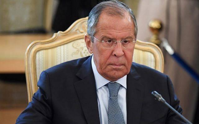 El ministro de Asuntos Exteriores de Rusia, Sergei Lavrov, participa en una reunión con su homólogo turco en Moscú el 24 de agosto de 2018. (AFP PHOTO / Kirill KUDRYAVTSEV)