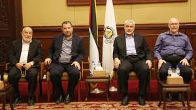 Los líderes de Hamas llegaron a Gaza el viernes (Foto: EPA)