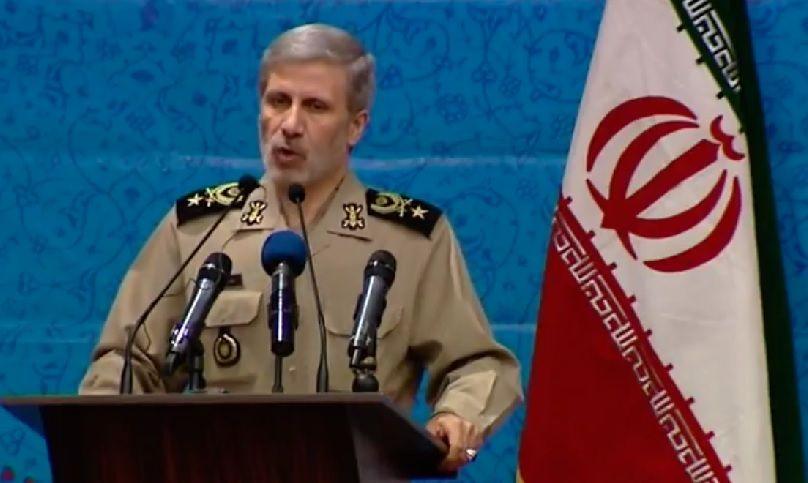 El ministro de defensa iraní, Amir Hatami.(Captura de pantalla / YouTube)