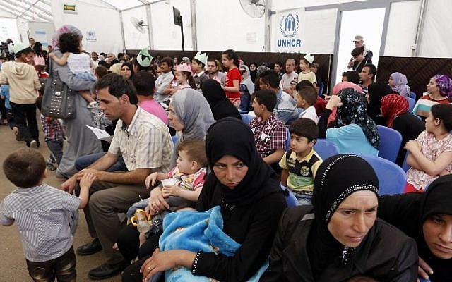 Foto ilustrativa de refugiados sirios, 29 de mayo de 2014 (AFP / Anwar Amro)