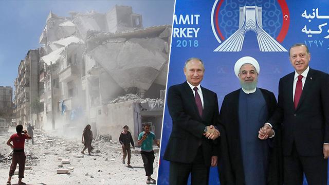 De izquierda a derecha: Putin, Rouhani, Erdogan (Foto: EPA, AFP)