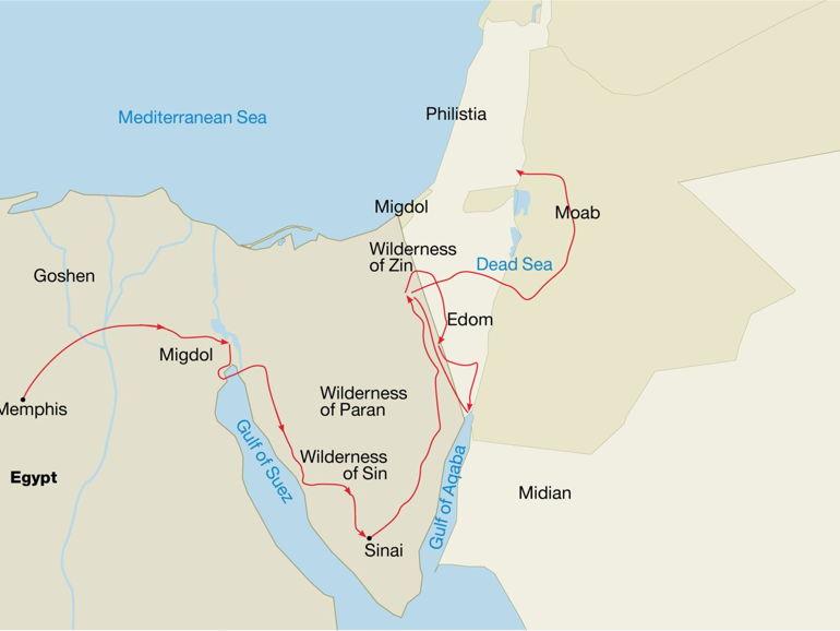 ¿Es este el lugar en donde los israelitas acamparon en su camino a Canaán hace 3.200 años?