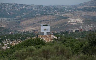 Una instalación de la ONG agrícola libanesa 'Green without Borders' que el IDF dice que sirve como un puesto de observación para Hezbollah en la frontera israelí-libanesa, publicitado el 22 de junio de 2017. (Unidad del Portavoz de las FDI)