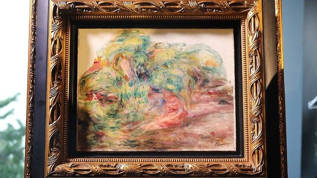 """Pintura """"Dos mujeres en un jardín"""", una obra impresionista de Pierre-Auguste Renoir."""