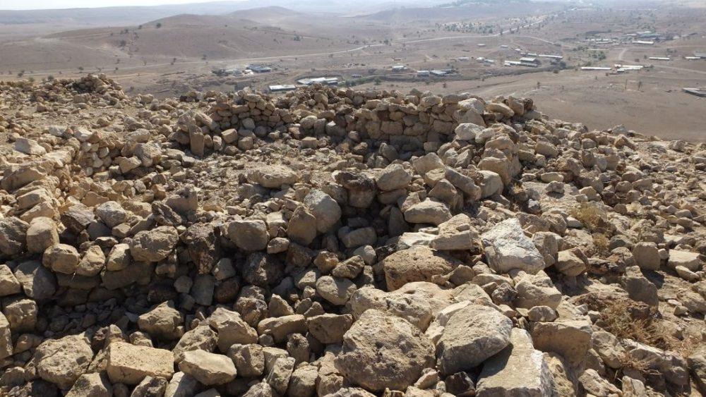 Una estructura doméstica en el sitio de Uja el-Foqa, cerca de Khirbet el-Mastarah El Proyecto de Excavación del Valle del Jordán