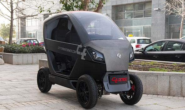 Empresarios israelíes desarrollan un auto plegable