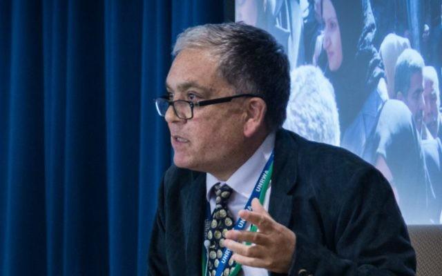 Portavoz de la UNRWA, Chris Gunness, en el Seminario Internacional de Medios 2014 sobre la Paz en Oriente Medio, Universidad de Sofía, Tokio, 9-10 de junio de 2014. (Naciones Unidas / John Gillespie / Wikipedia / CC BY-SA 2.0)