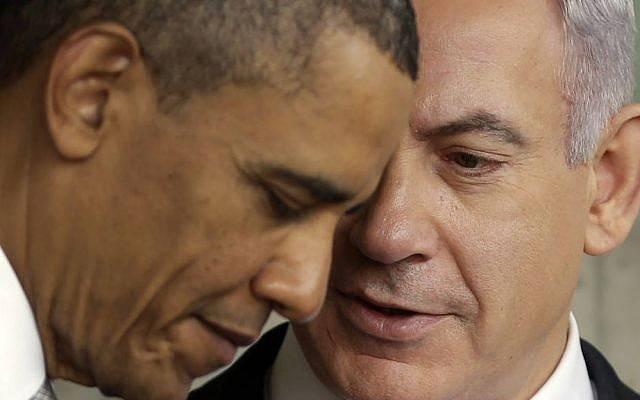 El presidente de los EE. UU., Barack Obama, escucha al primer ministro Benjamin Netanyahu durante su visita al Memorial de los Niños en el Memorial del Holocausto Yad Vashem en Jerusalem, Israel, 22 de marzo de 2013. (AP Photo / Pablo Martinez Monsivais)