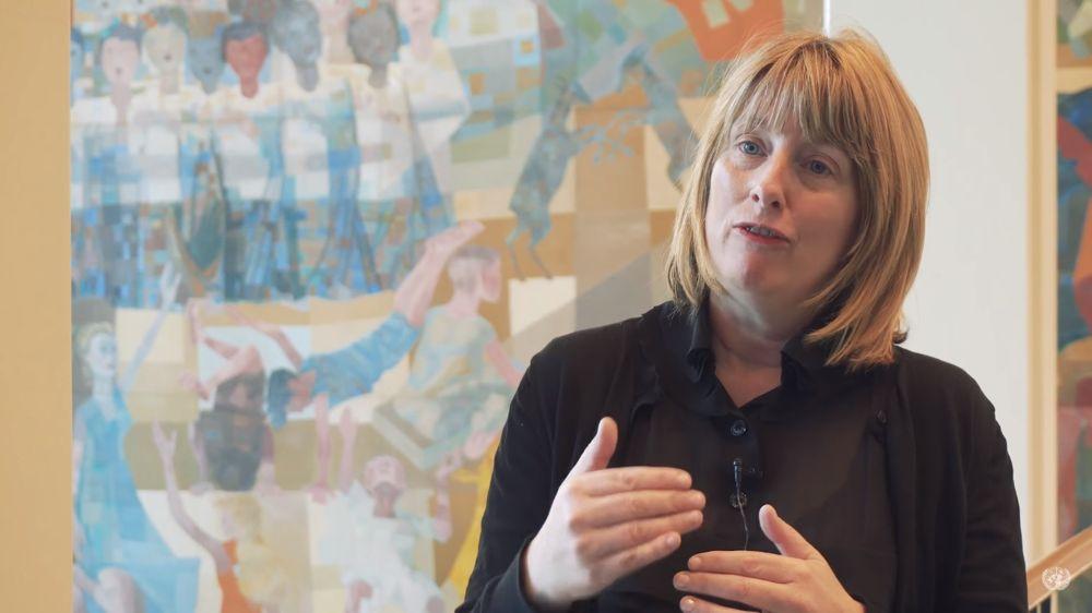 Captura de pantalla del video de la Relatora Especial de la ONU para la lucha contra el terrorismo y los derechos humanos Fionnuala Ni Aolain.(Youtube)