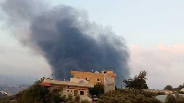 Escena del presunto ataque de la IAF en Hama a principios de esta semana