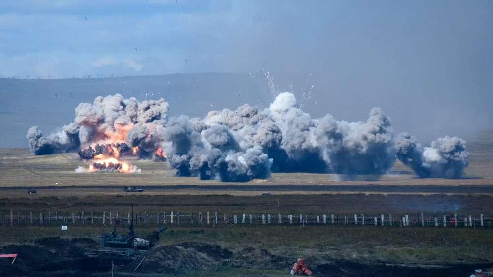 Un extenso bombardeo