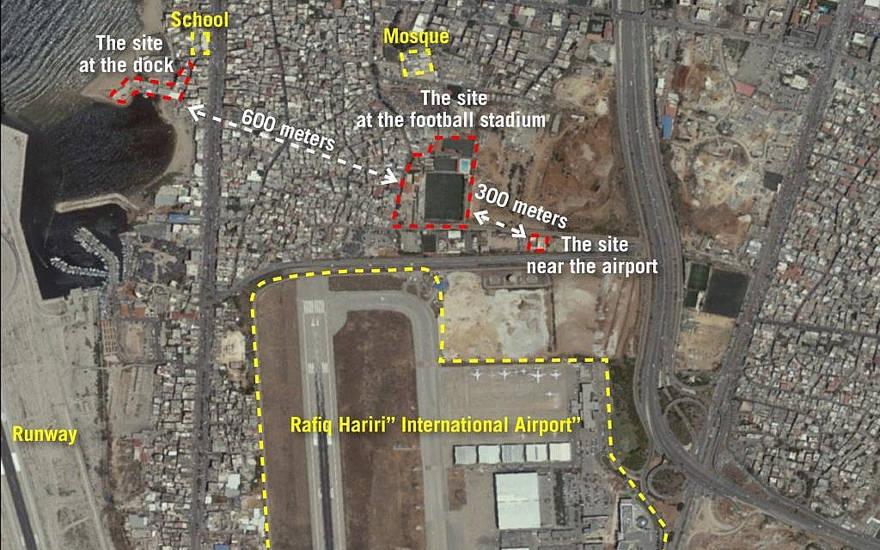 FDI publica fotos de sitios de misiles de Hezbolá cerca del aeropuerto de Beirut