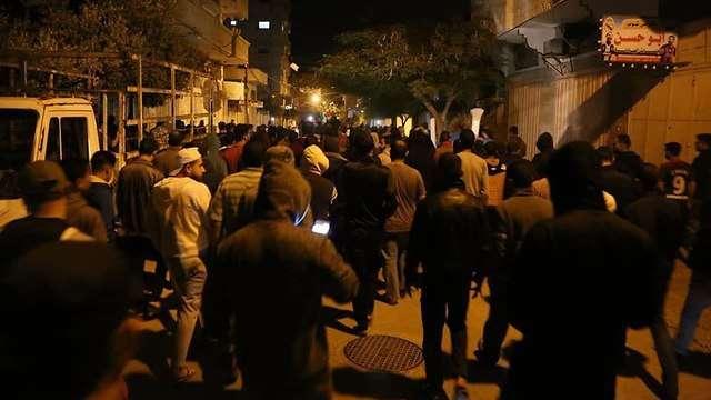 Cientos de palestinos en manifestación en Gaza