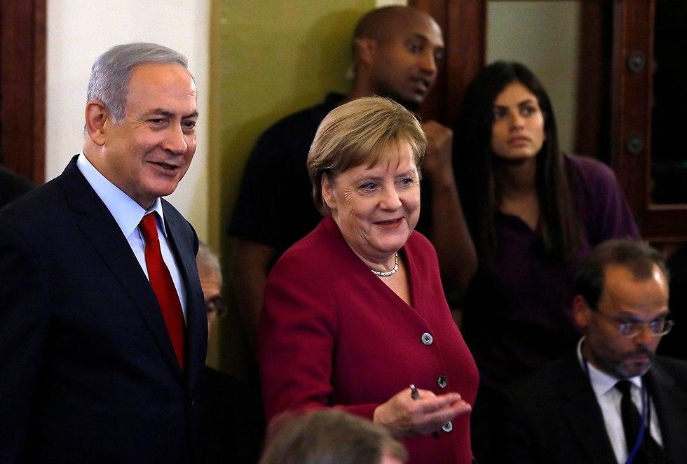 Merkel y Netanyahu en la conferencia de prensa (Foto: AFP)