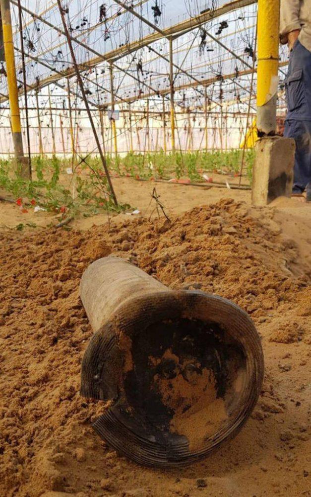 Cohete lanzado desde Gaza (Foto: Netiv HaAsara security)