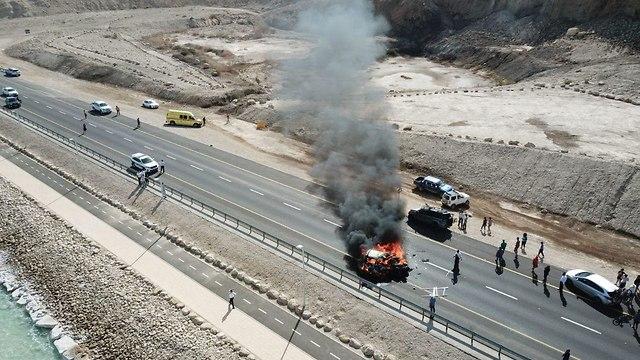 Escena del accidente (Foto: Robby Hendel)