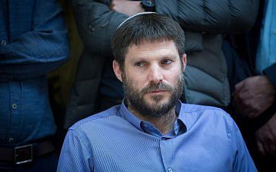 Jewish Home MK Bezalel Smotrich en la reunión semanal de su fiesta en la Knesset, 25 de diciembre de 2017. (Miriam Alster / Flash90)