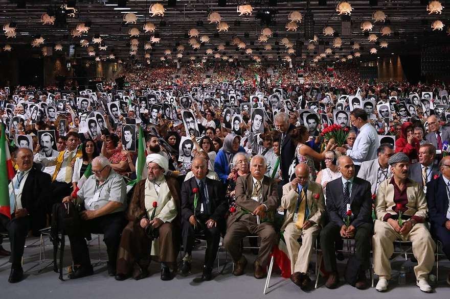 El rally NCRI en Francia(Foto: AFP)