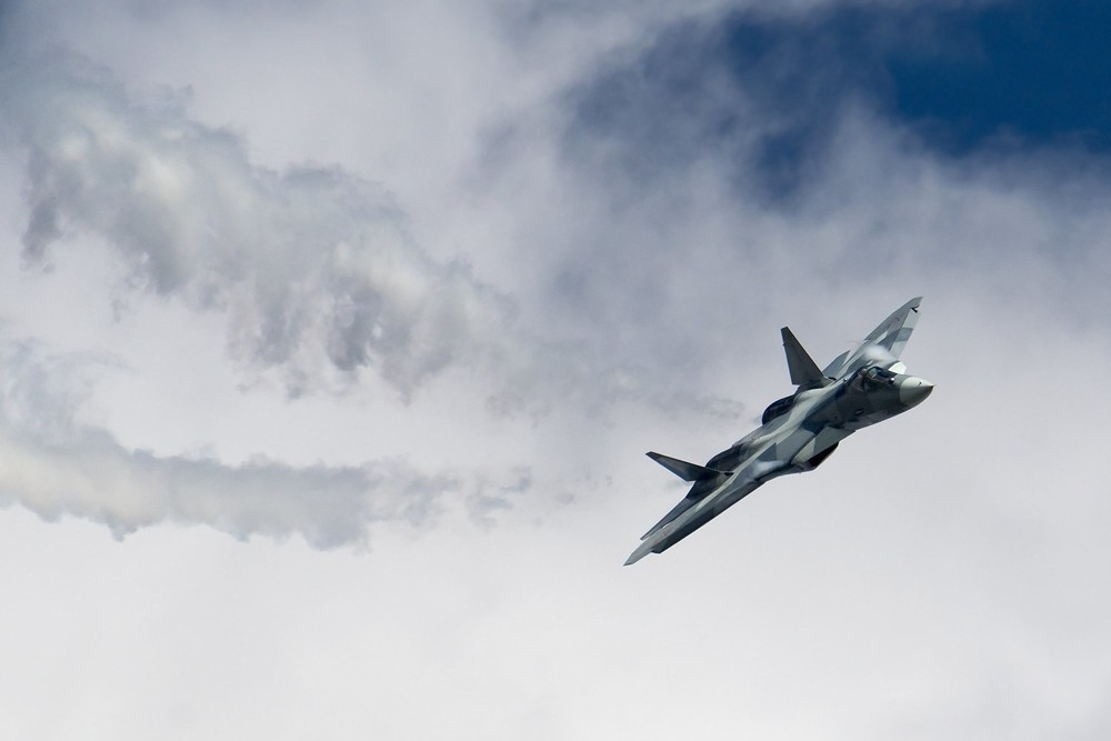"""SU-57 el nuevo caza de Rusia que es """"furtivo"""" solo de nombre"""