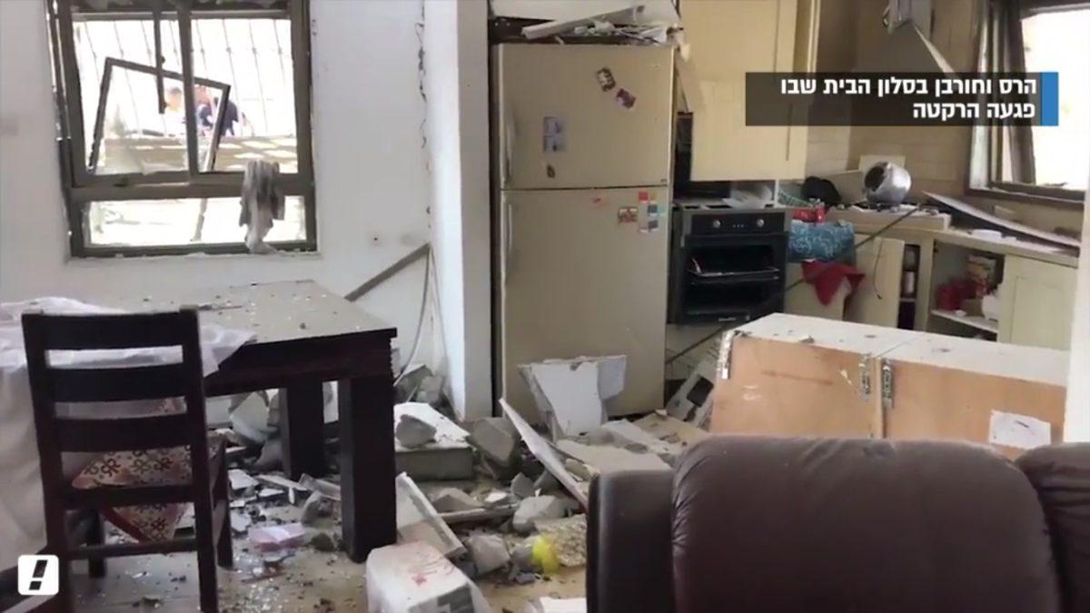Madre logró sacar a sus hijos de la casa en Beer Sheva segundos antes que el cohete impactara