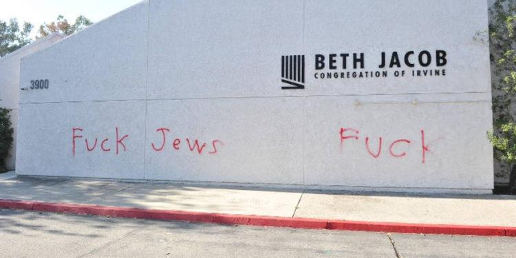 Sinagoga de California vandalizada con graffiti antisemita
