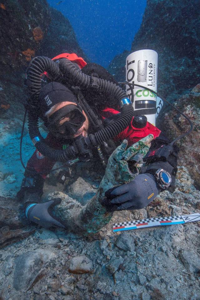 encontrado en el fondo del mar Egeo Brett Seymour / EUA / ARGO