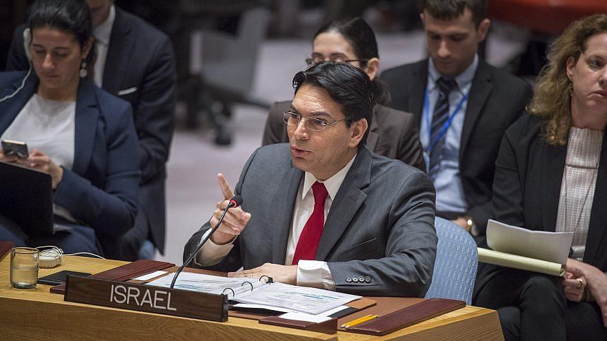 Danon: Abbas debería negociar la paz con Israel, no amenazarlo