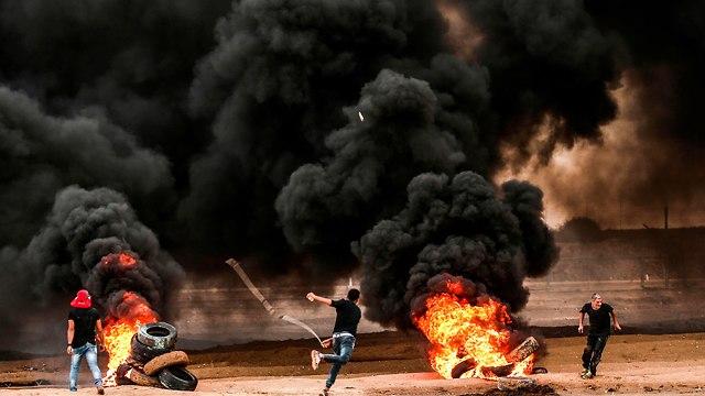 Ataques en la frontera de Gaza (Foto: AFP)