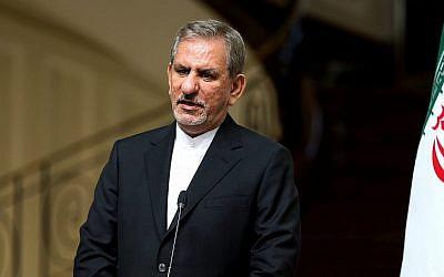 Primer vicepresidente iraní Eshaq Jahangiri en 2016 (AP Photo / Ebrahim Noroozi)