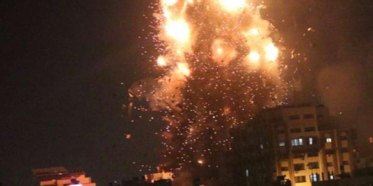 Ejército de Israel bombardea la estación Al-Aqsa TV de Hamas en Gaza