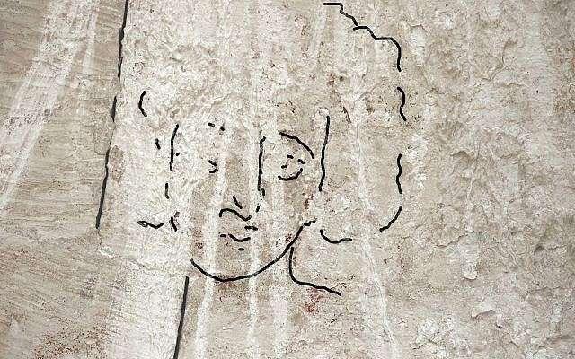 Reconstrucción de la Dra. Emma Maayan-Fanar de la cara de Jesús encontrada en una iglesia del norte de la época bizantina en Shivta en el Negev.(Dror Maayan)