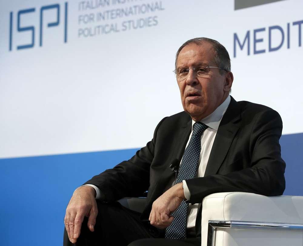 El canciller ruso, Serguéi Lavrov, asiste a la conferencia de diálogos mediterráneos en Roma, el viernes 23 de noviembre de 2018. (Foto AP / Alessandra Tarantino)