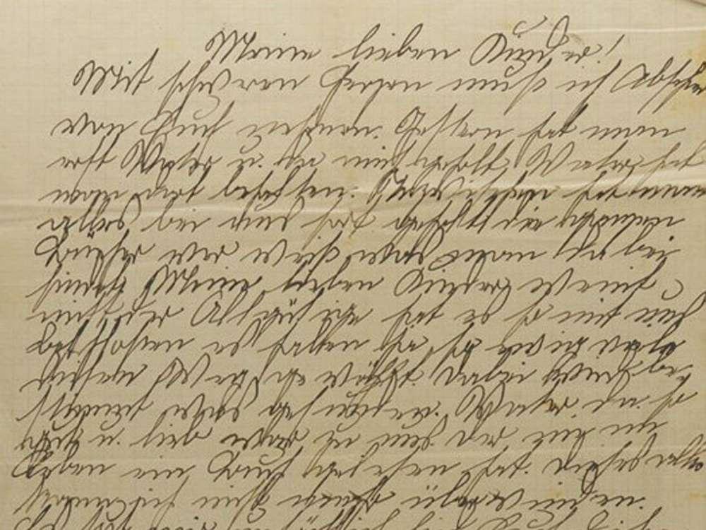 La carta que Josephine Bähr envió a sus hijos, Ilse y Kurt.Yad Vashem / Cortesía de Ruth Leshem