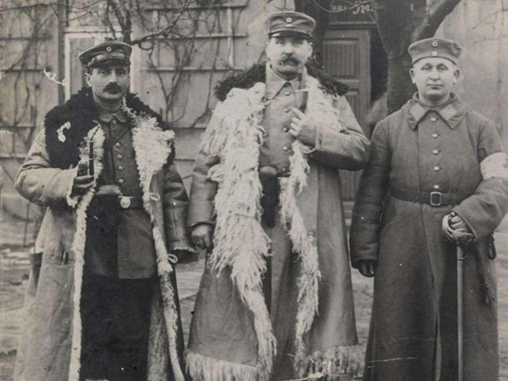 Leopold Bähr (derecha) como soldado alemán durante la Primera Guerra Mundial.Yad Vashem / Cortesía de Ruth Leshem