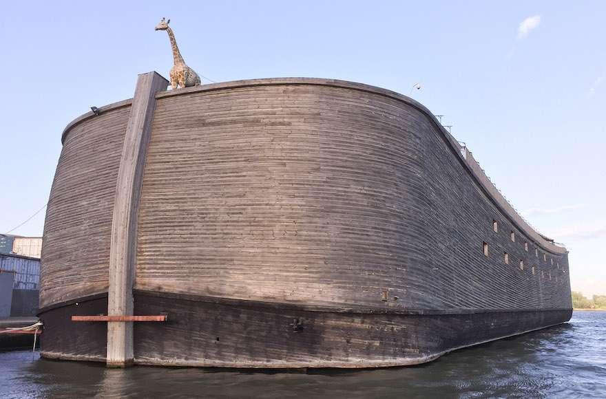 La proa del Arca de Noé de Huibers se ve en Krimpen aan de Ijssel, Países Bajos.(Wikimedia Commons)