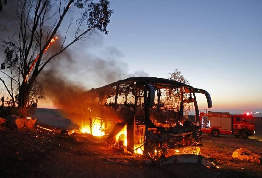 FDI investigarán ataque con misil antitanque a un autobús cerca de la frontera con Gaza