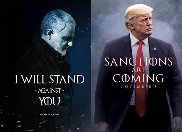 Imágen de Twitter sobre las sanciones.