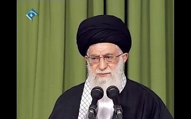 El ayatolá Ali Khamenei se dirige a un grupo de mujeres en Teherán el 1 de septiembre de 2018. (Captura de pantalla: Khamenei.ir)