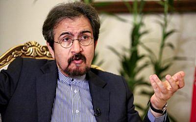 Bahram Ghasemi, portavoz del Ministerio de Relaciones Exteriores de Irán, da una entrevista con AFP en la capital, Teherán, el 2 de octubre de 2018. (AFP Photo / Atta Kenare)