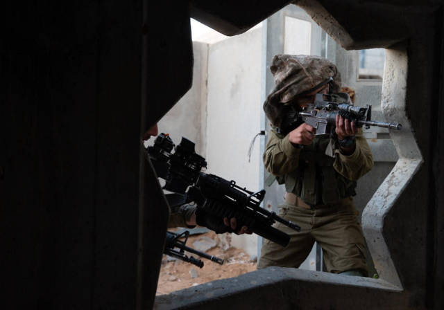 La unidad canina Oketz de las FDI se prepara para la guerra Unidad Oketz. (Crédito de la foto: Oficina del portavoz de las FDI)