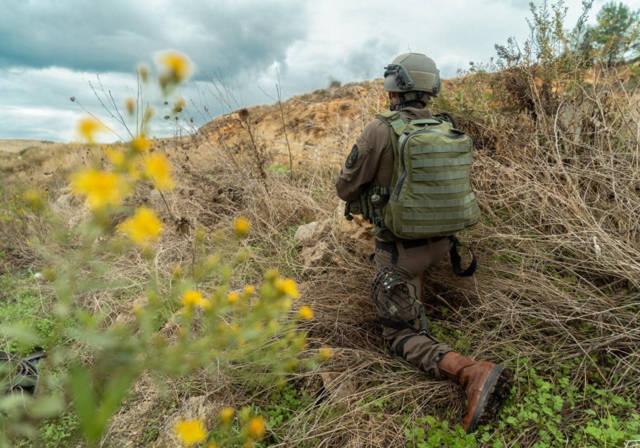 La unidad canina Oketz de las FDI se prepara para la guerra
