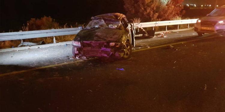 Accidente automovilístico de la autopista 6, 7 de diciembre de 2018. (Crédito de la foto: MAGEN DAVID ADOM)