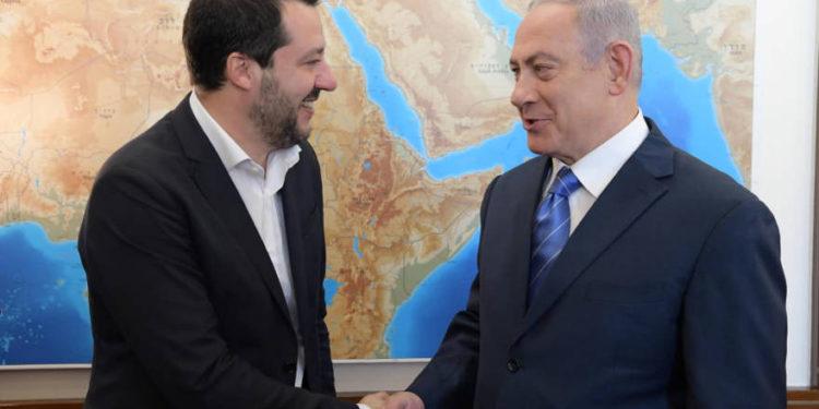 """Netanyahu: Matteo Salvini es un """"gran amigo de Israel"""""""