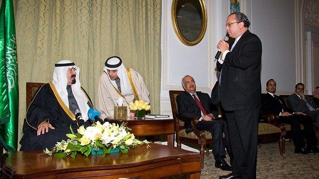 Rabino Schneier con el rey saudí (Foto: Rabino Marc Schneier)